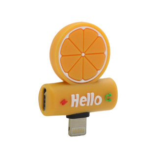 Adapter za iphone lightning handsfree/charging pomorandza