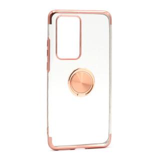 Futrola MAGNETIC RING CLEAR za Huawei P40 Pro roze