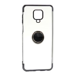 Futrola MAGNETIC RING CLEAR za Xiaomi Redmi Note 9S crna