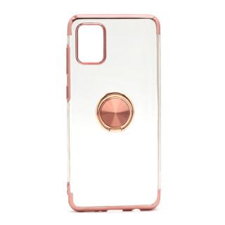 Futrola MAGNETIC RING CLEAR za Samsung A315F Galaxy A31 roze