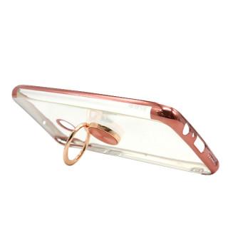 Futrola MAGNETIC RING CLEAR za Huawei Y6p roze