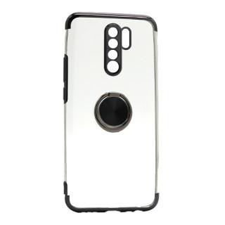 Futrola MAGNETIC RING CLEAR za Xiaomi Redmi 9 crna