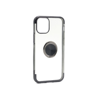 Futrola MAGNETIC RING CLEAR za Iphone 12 Mini (5.4) crna