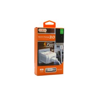 Kucni punjac Moxom MX-67Y QC 3.0 Fast micro beli