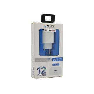 Kuciste punjaca za Iphone 12 COMICELL TD-PA133 20W USB-C beli