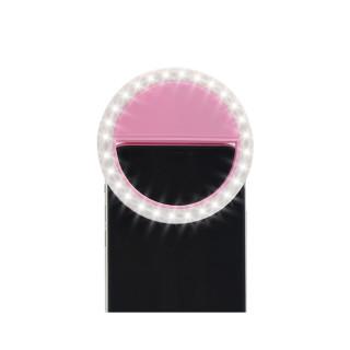 Selfie ring light portable roze