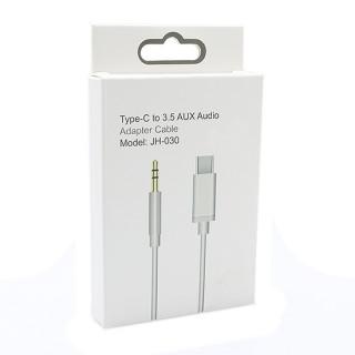 USB Data kabal Type C na 3.5mm (AUX) muski JH-030 beli