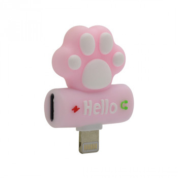 Adapter za iphone lightning handsfree/charging paw