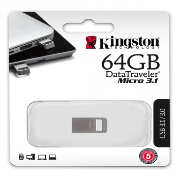 Fleš pen 64GB, metalni D Travel 3.1 micro Kingston
