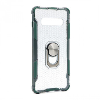 Futrola DEFENDER RING CLEAR za Samsung G975F Galaxy S10 Plus tamno zelena