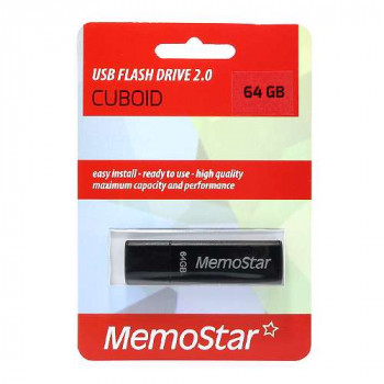 USB Flash memorija MemoStar 64GB CUBOID crna