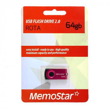 USB Flash memorija MemoStar 64GB ROTA pink