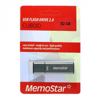 USB Flash memorija MemoStar 32GB CUBOID gun metal 2.0