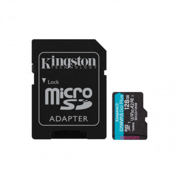 Mem.kartica+adapter Canvas Go! Plus microSD 128GB Kingston