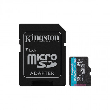 Mem.kartica bez ad. Canvas Go! Plus MicroSD 64GB Kingston