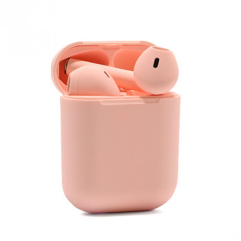 Slusalice Bluetooth Airpods InPods 12 macarons roze