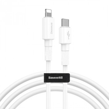 USB data kabal BASEUS Mini White Type C na Iphone Lightning 1m beli