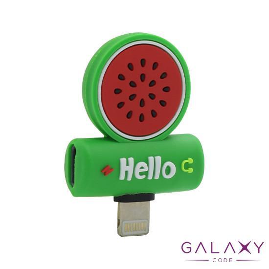 Adapter za iphone lightning handsfree/charging lubenica