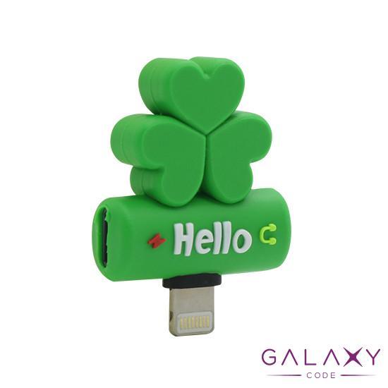 Adapter za iphone lightning handsfree/charging detelina