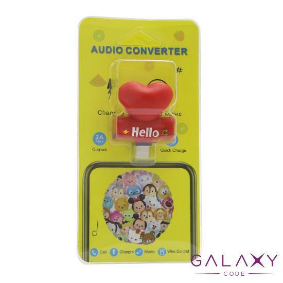 Adapter za iphone lightning handsfree/charging srce