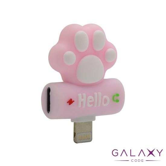 Adapter za iphone lightning handsfree/charging paw