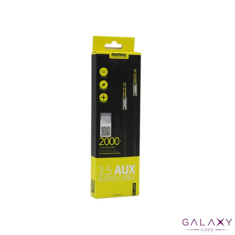 Audio kabl REMAX RM-L200 Aux 3.5mm crni 2m
