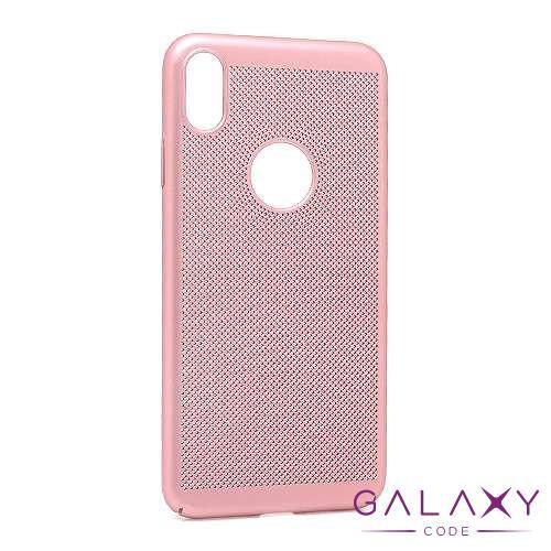 Futrola PVC BREATH za Iphone XS Max roze