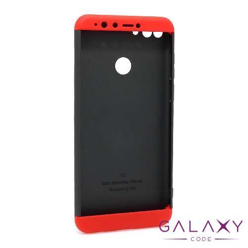 Futrola PVC 360 PROTECT za Huawei Y9 2018 crno-crvena
