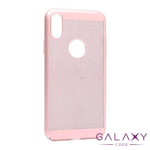 Futrola PVC BREATH za Iphone XS roze