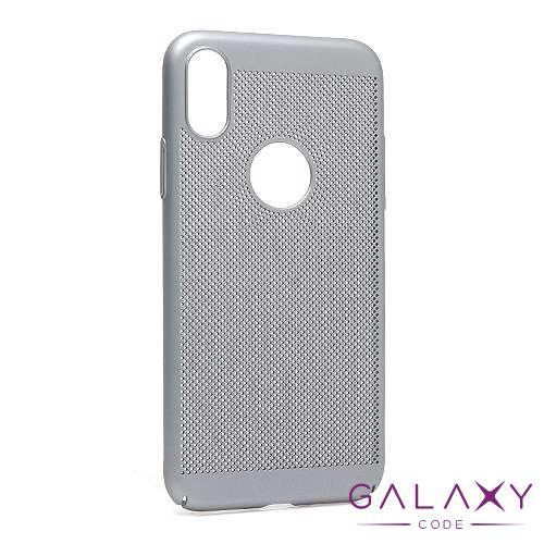 Futrola PVC BREATH za Iphone XS siva