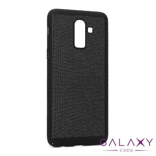 Futrola PVC BREATH za Samsung J810F Galaxy J8 2018 crna