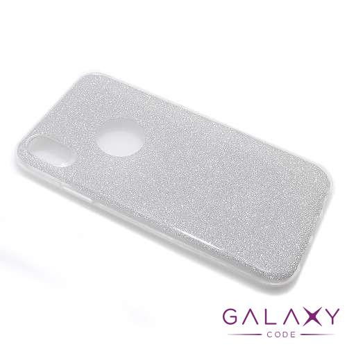Futrola silikon GLITTER za Iphone XR srebrna