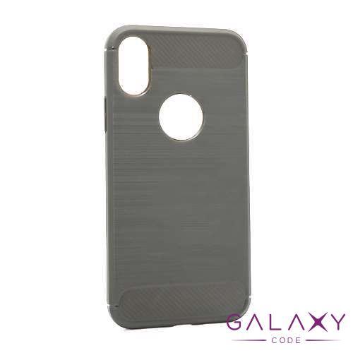 Futrola silikon BRUSHED za Iphone X/XS siva