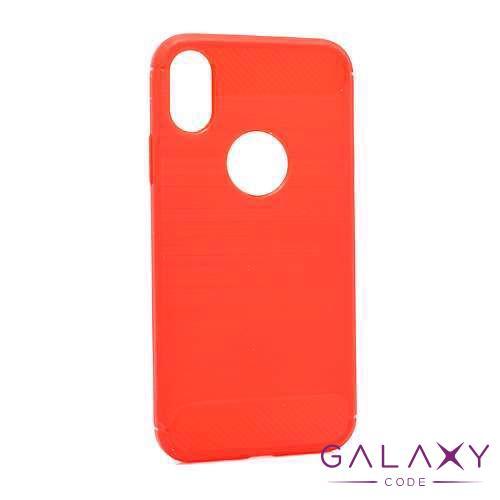 Futrola silikon BRUSHED za Iphone X/XS crvena