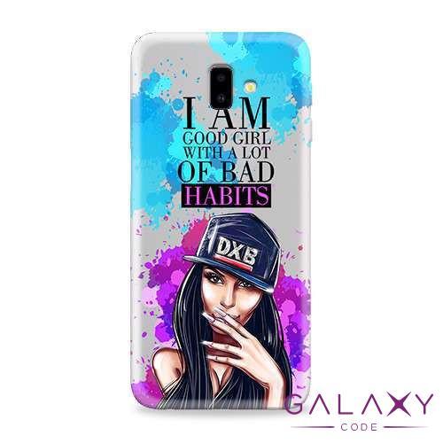 Futrola ULTRA TANKI PRINT CLEAR za Samsung J610F Galaxy J6 Plus ND0063