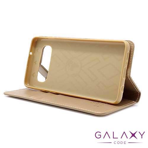 Futrola BI FOLD HANMAN za Samsung G973F Galaxy S10 zlatna
