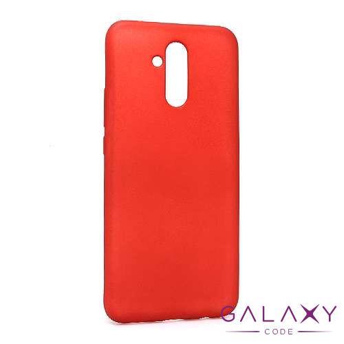 Futrola silikon DURABLE za Huawei Mate 20 Lite mat crvena