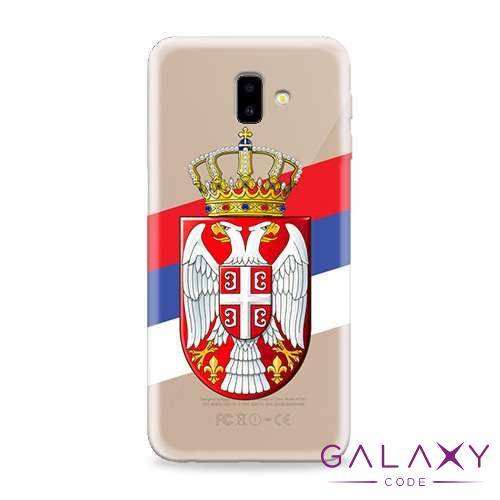 Futrola ULTRA TANKI PRINT CLEAR za Samsung J610F Galaxy J6 Plus SRB09
