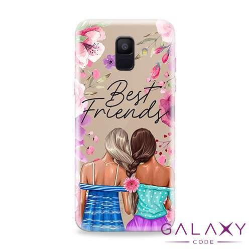 Futrola ULTRA TANKI PRINT CLEAR za Samsung A600F Galaxy A6 2018 ND0088