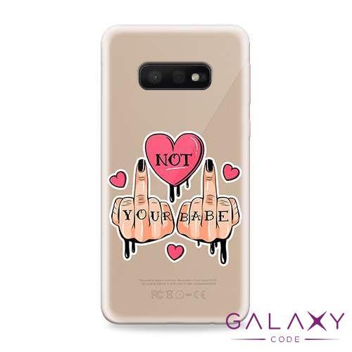 Futrola ULTRA TANKI PRINT CLEAR za Samsung G970F Galaxy S10e ND0093