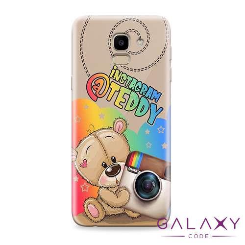 Futrola ULTRA TANKI PRINT CLEAR za Samsung J600F Galaxy J6 2018 ND0083
