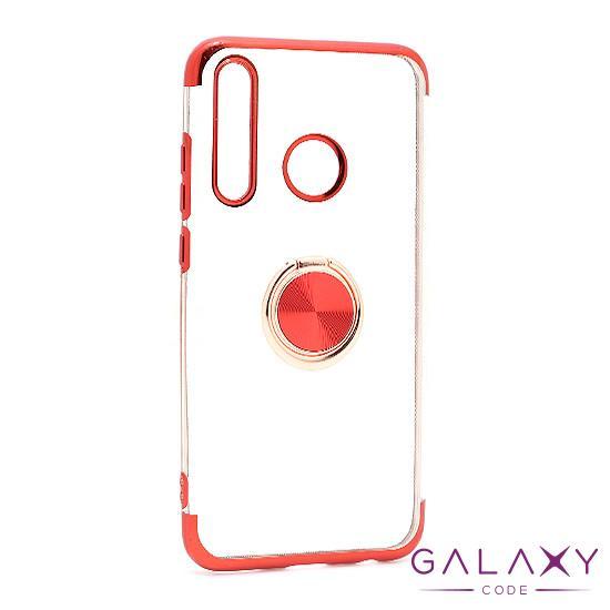 Futrola MAGNETIC RING CLEAR za Huawei Honor 20 Lite/Honor 20e crvena