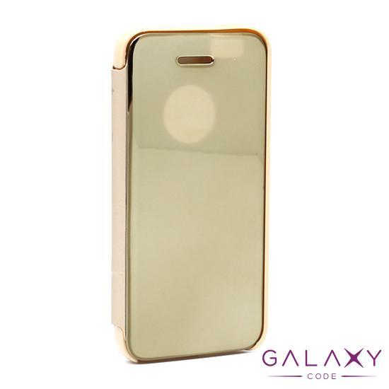 Futrola BI FOLD CLEAR VIEW za Iphone 5G/5S/SE zlatna