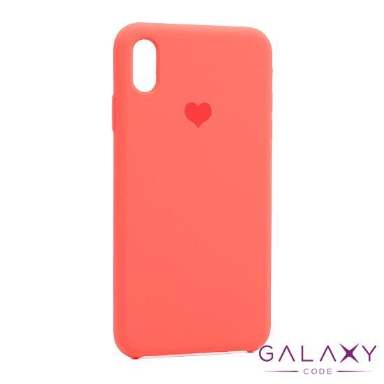 Futrola Heart za Iphone XS Max narandzasta