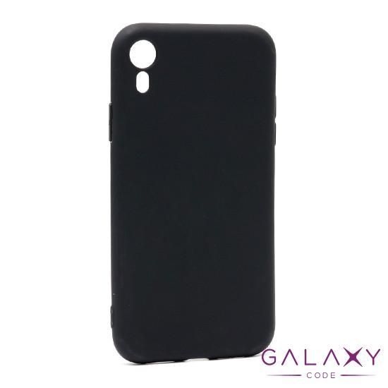 Futrola ULTRA TANKI KOLOR za Iphone XR crna model 1