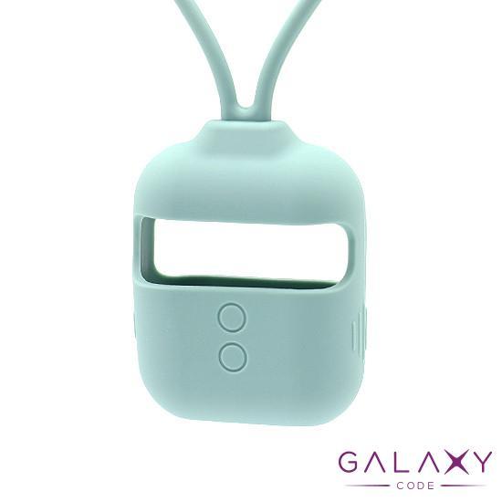 Futrola za Airpods silikon sa trakom sivo plava