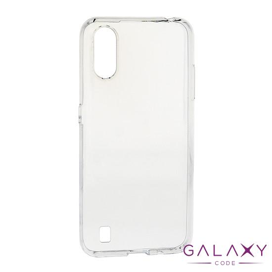 Futrola ULTRA TANKI PROTECT silikon za Samsung A015F Galaxy A01 providna (bela)