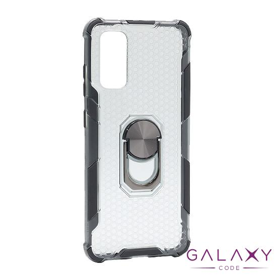 Futrola DEFENDER RING CLEAR za Samsung G980F Galaxy S20 crna