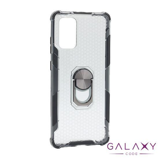 Futrola DEFENDER RING CLEAR za Samsung G985F Galaxy S20 Plus crna