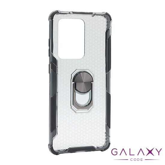 Futrola DEFENDER RING CLEAR za Samsung G988F Galaxy S20 Ultra crna